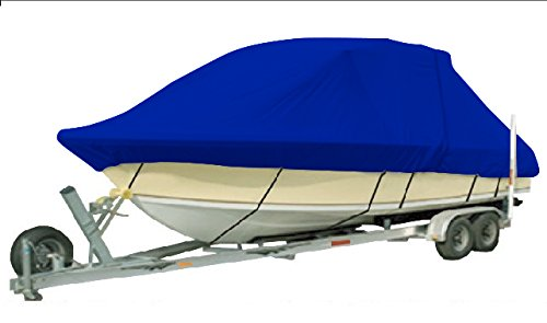 Vehicore Heavy Duty T-top Hard Top Boat Cover for Carolina Skiff 218 DLV Center Console Fishing Blue