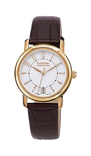 Dugena Premium Rondo Petit Arabica 7000132 - Reloj analógico de cuarzo para mujer, correa de cuero color marrón