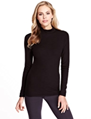 Heatgen™ Polo Neck Brushed Thermal Top