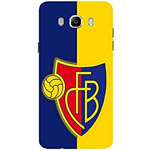 Yellow & Blue FB - Mobile Back Case Cover For Samsung Galaxy J5 (2016)