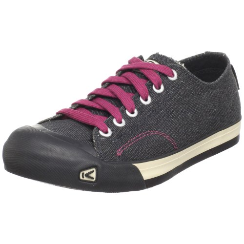 Keen Women's Coronado Canvas Sneaker,Black/Beet Red,10 M US