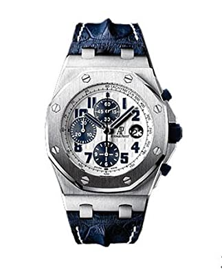 Audemars Piguet Royal Oak Offshore Blue Leather Strap Mens Watch 26170STOOD305CR01