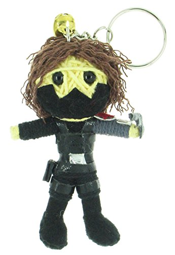 Bucky Winter Soldier Captain America Voodoo String Doll Keyring Keychain