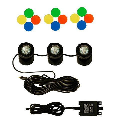 Water Feature Underwater Spot Light Kit - Set of 3