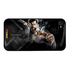 Wolverine-origins 2-x-men-origins-wolverine Protagonist Fashion Design Hard Case Cover Skin Protector for Iphone 4 4s Iphone4 At&t Sprint Verizon Retail Packing(black Pc+pearlescent Aluminum) Oksobuy-0245