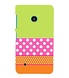 Green Pink Orange Pattern Cute Fashion 3D Hard Polycarbonate Designer Back Case Cover for Nokia Lumia 530 :: Nokia Lumia 530 RM 1017 :: Nokia Lumia 530 Dual SIM :: Nokia Lumia 530 Dual SIM RM 1019