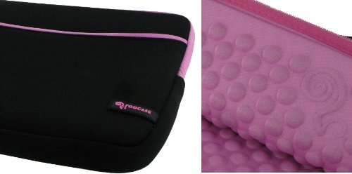 rooCASE Wonderful Bubble Neoprene Sleeve Case for Sony VAIO YB Series VPCYB33KX 11.6-Inch Laptop (Gloomy / Pink)