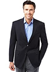 Ultimate Performance Notch Lapel 2 Button Blazer with Wool