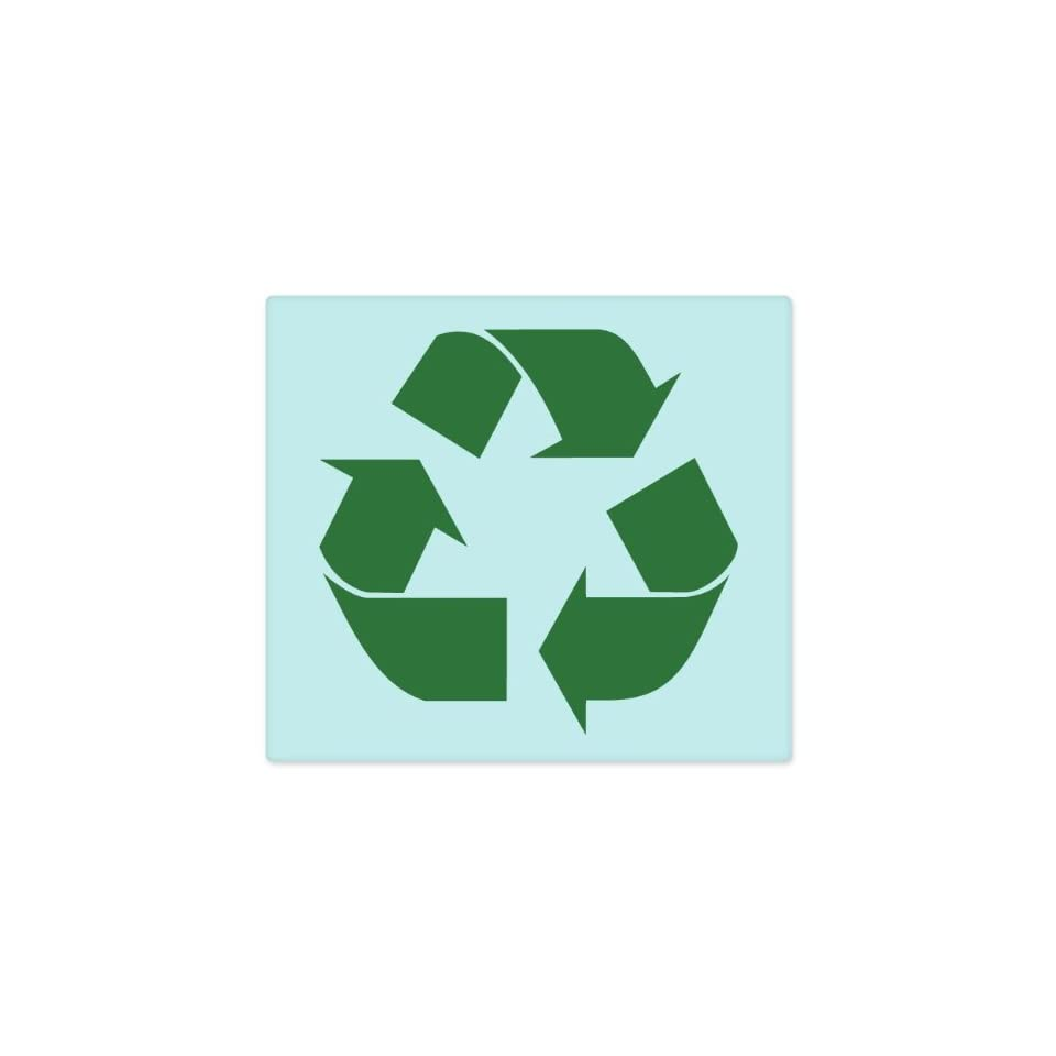 Recycle SIGN Green sticker decal 4 x 4