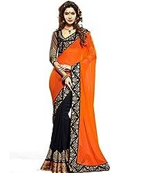Z Hot Fashion Women's Printed Border work Saree In Chiffon Fabric (ZHKN1043) ...