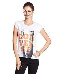 Converse Women's Graphic Print T-Shirt (1000251064002_White_33.5