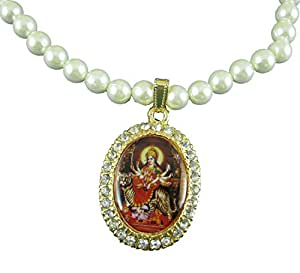 ESHOPPEE Durga Maa moti mala with locket
