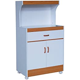 White Oak Microwave Cart & Cabinet at Tar Cabinets