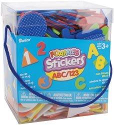 Darice Tub O' Foamies Sticky Shapes 6 Ounces A B C 1 2 3 1040A-72; 3 Items/Order