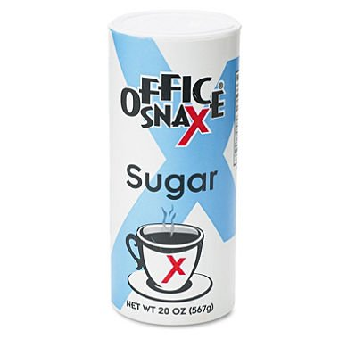Office Snax Sugar Canister Reclosable Lid 20 oz