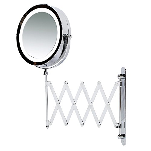 Kenley Wall Mounted Magnifying Makeup Mirror With LED