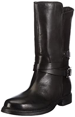 Clarks Moody Film 20356989, Damen Biker Boots, Schwarz (Black Leather), EU 41.5