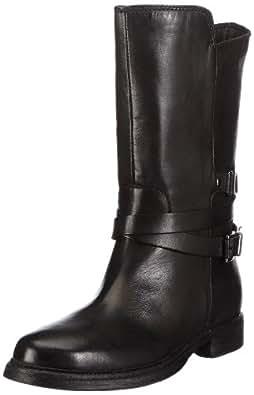 Clarks Moody Film 20356989, Damen Biker Boots, Schwarz (Black Leather), EU 38