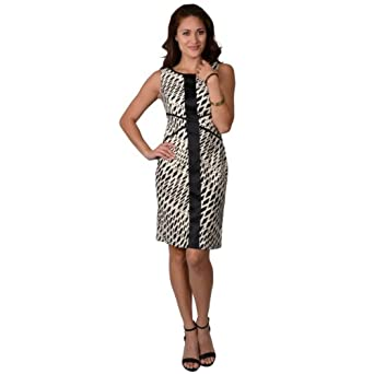 Sangria Womens Retro Print Sleeveless Dress