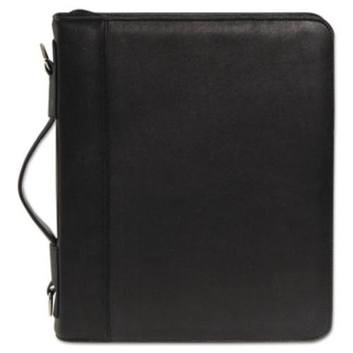 buxton-zip-around-cal-q-folio-smooth-cover-calculator-3-ring-pad-pocket-black-buxoc33785bk-by-buxton