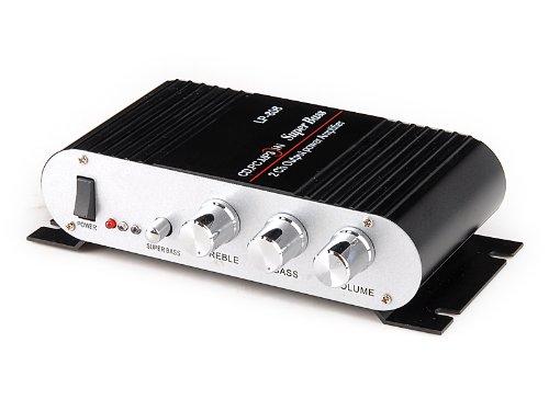 Original Lepai Mini Hi-Fi HiFi Stereo Audio Verstärker Amplifier für Auto Motor CD DVD Schwarz