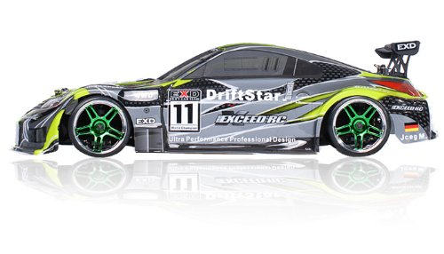 2.4Ghz Brushless Version Exceed RC Drift Star Electric Powered RTR Remote Control Drift Racing Car 350 Green Style