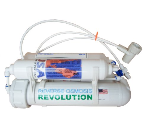 Aquarium 4-stage Countertop Reverse Osmosis Revolution RO System with DI/T33 Deionizing Mixed Bed 0PPM, 75 GPD, made in USA (0ppm Reverse Osmosis compare prices)