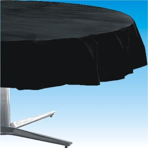 Noir jais ronde en plastique Nappe