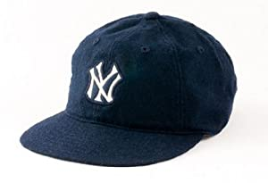 New York Yankees American Needle Statesman Cap Washed Flannel Vintage Leather... by American Needle