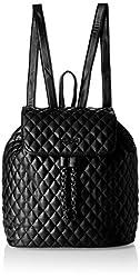Carlton London Women's Backpack (Black) (CLLP-106)