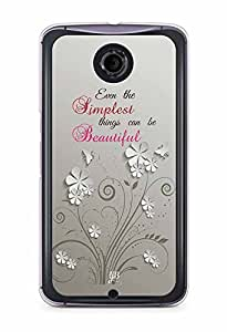 YuBingo Simplest Things can be Beautiful Designer Mobile Case Back Cover for Google Nexus 6