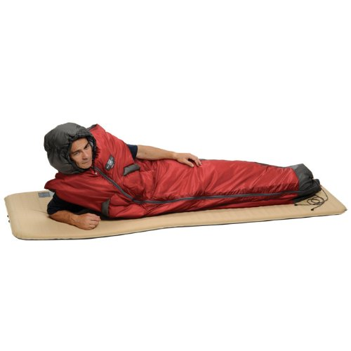 Exped DreamWalker Syn 133 Sleeping Bag, Red/Grey, Medium