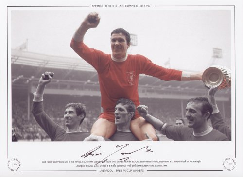 Ron Yeats Liverpool celebrates 1965 FA Cup Final – Signed Limited Edition