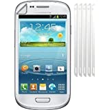 teKKno **5 Pack** LCD Screen Protectors Guards For The Samsung Galaxy S3 Mini i8190