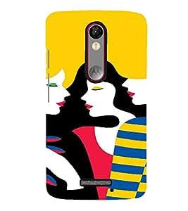 PrintVisa Gossip Girls Art 3D Hard Polycarbonate Designer Back Case Cover for Motorola Moto X Force