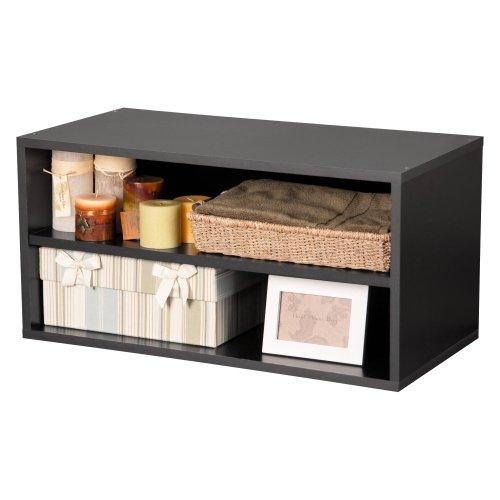 Foremost 329206 Modular Large Shelf Cube Storage System Black