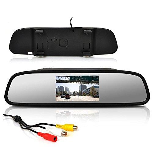 4,3 pouces RšŠsolution voiture haut du moniteur arriššre Support 2 vidšŠo et entršŠe audio pour appareil photo de voiture DVD / lecteur CD / VCD