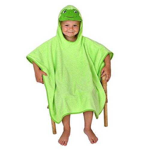 Poncho Baño Infantil:Wörner – Poncho para baño infantil (85 x 85 cm), diseño de rana