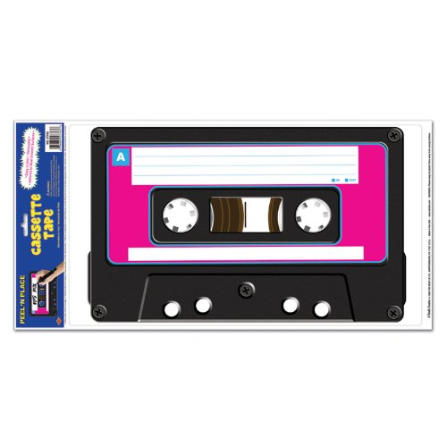 Cassette Peel 'N Place Party Accessory (1 count) (1/Sh)