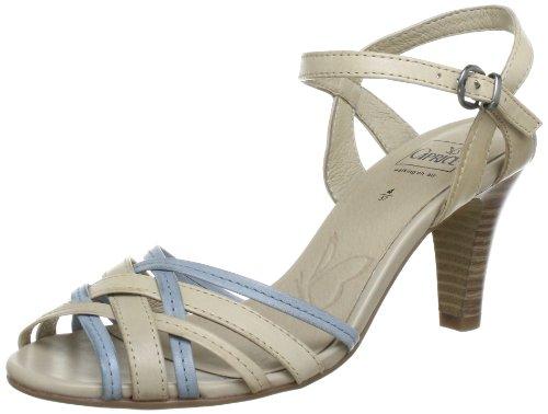 Caprice Da.-Sandalette Sandals Women Beige Beige (ICE B./SKY BL.) Size: 40.5