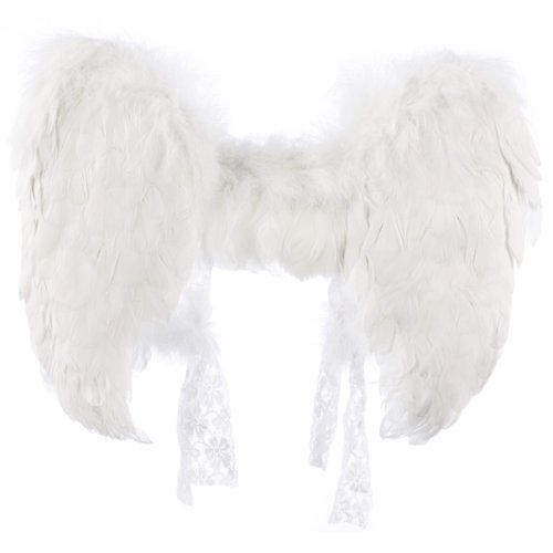 White Feather Angel Wings Adult - Accessories & Makeup