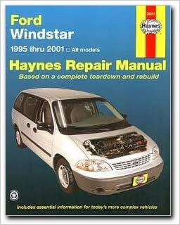 ford windstar haynes repair manual 1995 2001. Black Bedroom Furniture Sets. Home Design Ideas