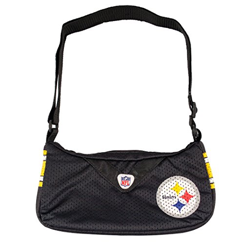 NFL Pittsburgh Steelers Jersey Team Purse, 12 x 3 x 7-Inch, Black from Little Earth