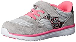 Saucony Girls Jazz Lite Sneaker (Toddler/Little Kid), Silver/Leopard/Pink, 5.5 M US Toddler