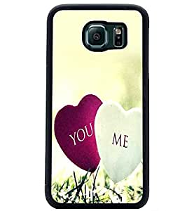 PrintDhaba Hearts D-2393 Back Case Cover for SAMSUNG GALAXY S6 (Multi-Coloured)