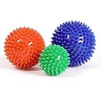 SuuRuuS Porcupine Massage Ball - 3.5 Inch, Red