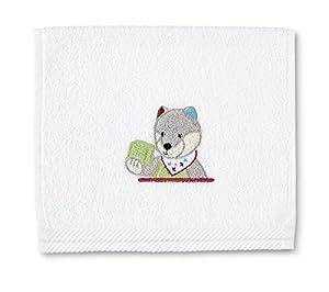 Toalla Terry 30X50 STERNTALER niño lobo WILBUR, White en BebeHogar.com