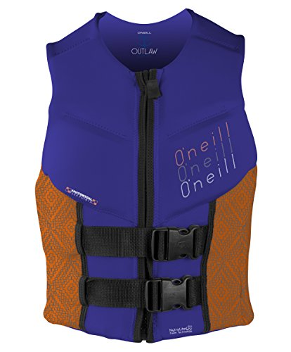 O'Neill Wetsuits Wake Waterski Women's Outlaw Comp Vest, Cobalt/Papaya/Black, 8