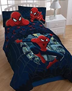 Marvel Spiderman Full Comforter & Sheet Bedding Set Spider-Man Quilt Set