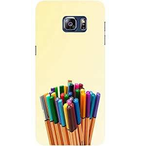 Casotec Crayons Design Hard Back Case Cover for Samsung Galaxy S6 edge Plus